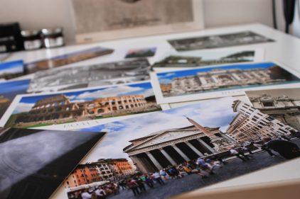sending postcards is must! :)