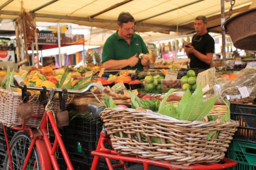 Campo de' Fiori. beautiful piazza/market