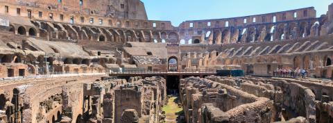 at the end, colosseum panorama!